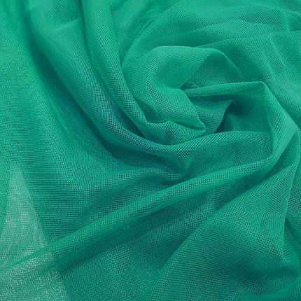 Ткань сетка стрейч бирюзовая, фото 2