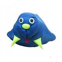 Детский кресло-мешок Морж, Цвет Синий
