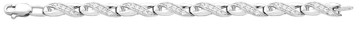 Браслет серебряный Волна 500180