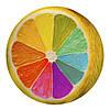 Декоративна кругла подушка пуфік Кольоровий лимон