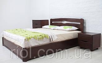 Ліжко з бука Нова з підйомним механізмом ТМ Олімп