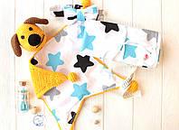"""Оригинальный подарочный набор для новорожденных """"Желтая собачка"""", ручная работа"""