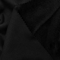 Трикотаж на меху черный