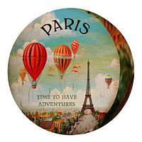 Декоративна кругла подушка пуфік Paris