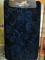 """Набор ковриков для ванной """"Banyolin"""", темно-синий производство Турция"""