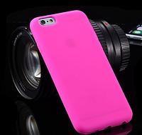 Силиконовый розовый чехол для Iphone 6 6S