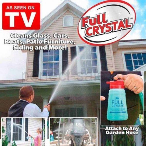 Многофункциональный очиститель стекол, окон и наружных поверхностей от Full Crystal (в ящике 30шт). - фото 7