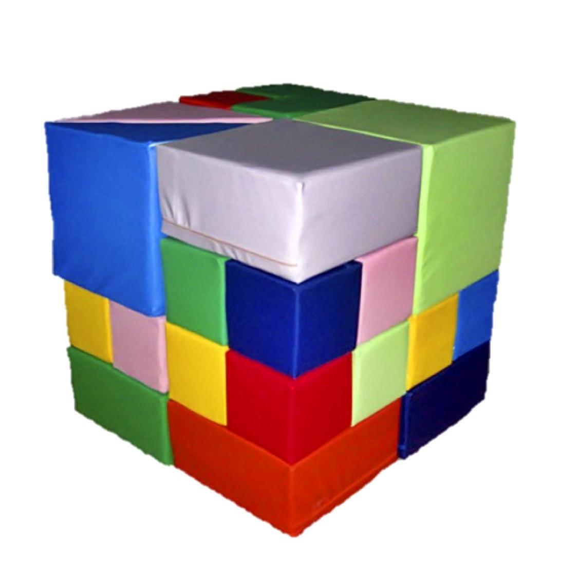 М'який конструктор Кубик Рубіка, 28 ел.