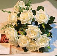 Искусственные цветы розы с шелка красивые декор для дома DT008