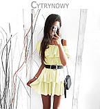 Сукня потрійний волан пишне 42 44 46 48 50 Р, фото 3