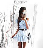 Сукня потрійний волан пишне 42 44 46 48 50 Р, фото 5