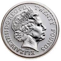Монета серебро фунты – 20 фунтов 2013 года