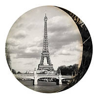 Декоративна кругла подушка пуфік Paris Ретро