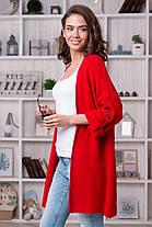 Весенний легкий кардиган цвет кремовый вискоза коттон с карманами размеры 42-52, фото 2
