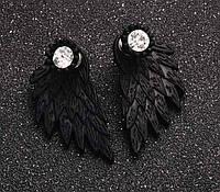 Серьги женские Крылья Black wings, фото 1