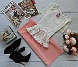 Костюм жіночий блузка і спідниця баска 42 44 46 48 50 Р, фото 5