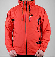 Ветровка Nike на флисе 5026 Красная