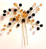 Заколка шпилька для волос нарядная, хрусталь, фото 2