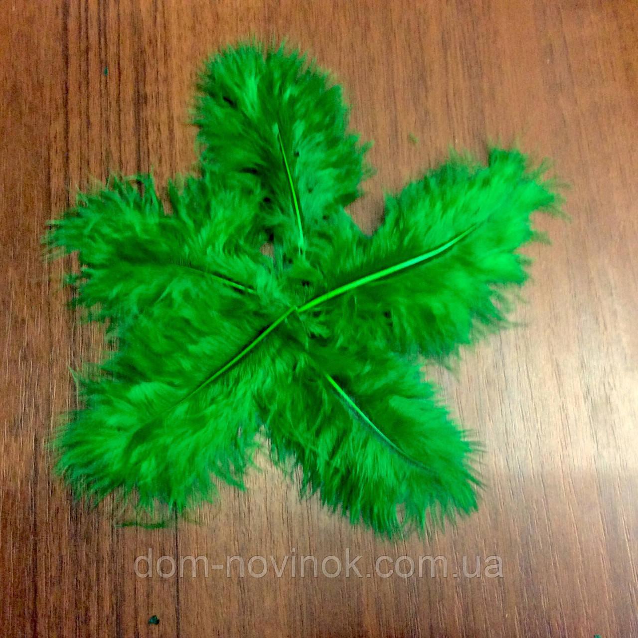 Перья марабу. 20 шт. Темно зеленые.