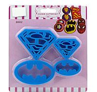"""Набор вырубок """"Бэтмен и Супермен"""""""