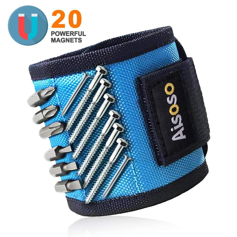 Магнитный строительный браслет  Aisoso для гвоздей, шурупов  20 магнитов