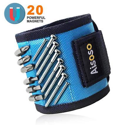 Магнитный строительный браслет  Aisoso для гвоздей, шурупов  20 магнитов, фото 2