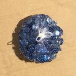 Камни стекло 400 грамм,голубые прозрачные.