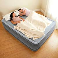 Надувная кровать двухспальная с встроенным насосом 203*152*33 см Intex 67770