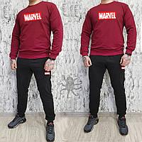 Мужской весенний комбинированный спортивный костюм, чоловічий костюм Marvel, Реплика