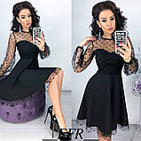 Платье женское нарядное юбка солнце верх сетка, фото 7