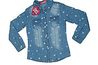 Детская джинсовая рубашка с длинным рукавом для девочки Венгрия BST