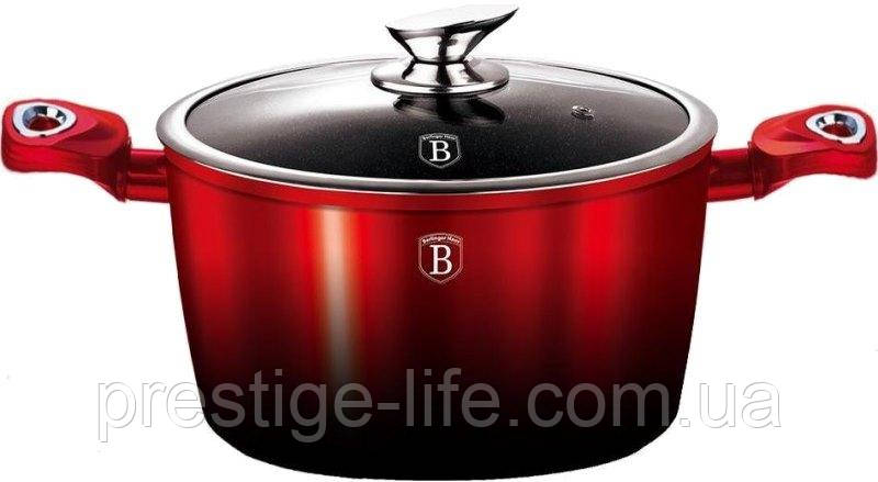 Кастрюля Berlinger Haus Metallic Line BLACK BURGUNDY Edition BH-1627N