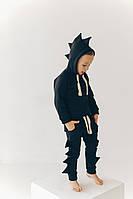 Дитячий чорний спортивний костюм Діно для хлопчика