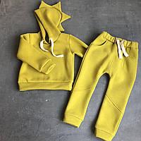 Дитячий жовтий спортивний костюм Діно для хлопчика