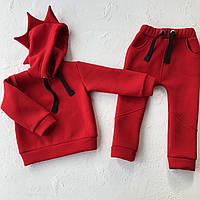 Дитячий червоний спортивний костюм Діно для хлопчика