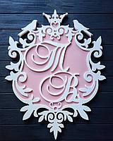 Гранд Монограмма на свадьбу, Семейный Герб, Подарок для молодых, Украшения для свадьбы
