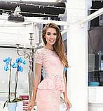 Костюм женский блузка и юбка баска гипюр длинна 1 метр купить 42 44 46 48 50 Р, фото 2