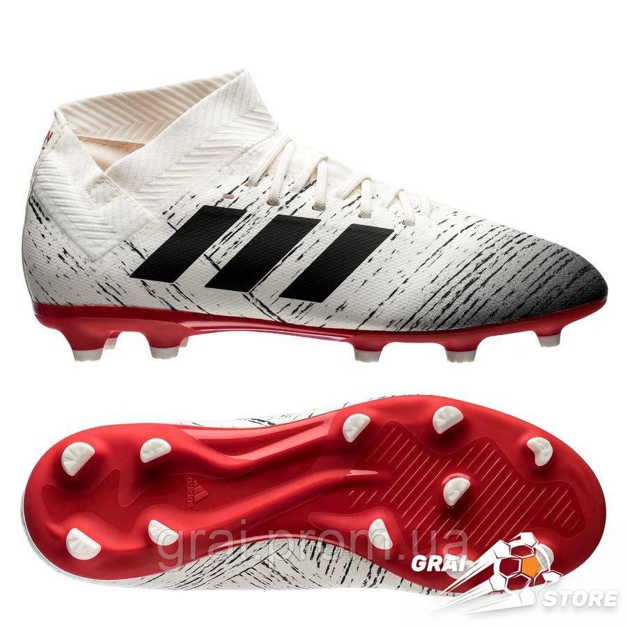 46d088d8 Детские бутсы adidas Nemeziz 18.3 FG/AG White/Black/Red - Интернет магазин