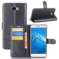 Чехол-книжка Litchie Wallet для Huawei Y7 Черный