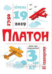 """Метрика постер """"Самолеты"""" (укр/рус/en)"""