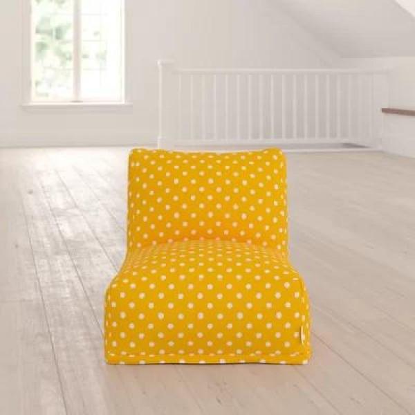 Бескаркасное кресло Горошек с оборкой
