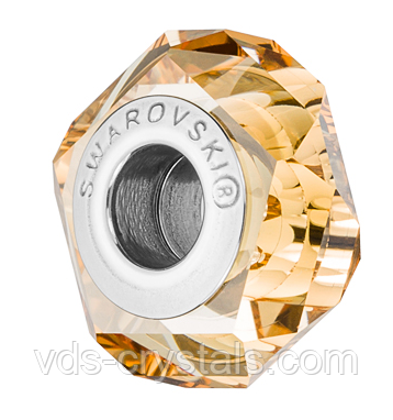 Бусина Swarovski в стиле Pandora 5929 Crystal Golden Shadow (упаковка 12 шт)