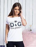 Женская стильная футболка D&G сердце, фото 1
