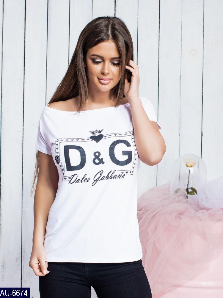 Женская стильная футболка D&G сердце