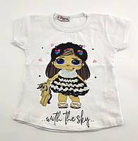 Детская футболка 1 и 2 года Турция для девочки майка детские футболки майки на девочку