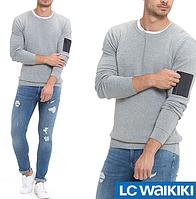 Cерый мужской свитер LC Waikiki / ЛС Вайкики с карманом на молнии на рукаве, фото 1
