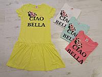 Платье летнее для девочек оптом,Glostory, размеры 134-164, арт. GYQ-5904