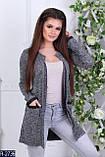 Кардиган пиджак женский с накладными карманами стильный модный 42 44 46 48 50 52 Р, фото 3
