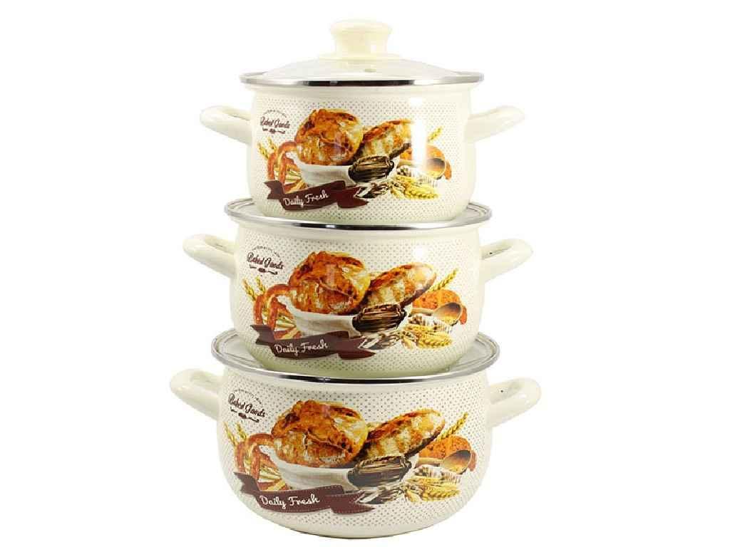 """Набор эмалированной посуды 3 предмета Хлеб """"Zauberg"""""""