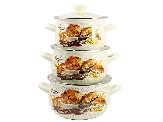"""Набор эмалированной посуды 3 предмета Хлеб """"Zauberg"""", фото 2"""